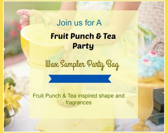 Fruit Punch & Tea Sampler - Tea Shape Wax Melts-  Scented Wax Tarts - 8 Samples