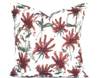 One Red pillow cover, Burgundy Pillow, decorative throw pillow, Palm tree pillow, accent pillow, Palm  pillow, pillow case