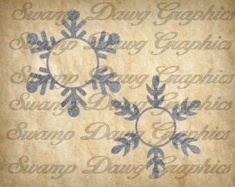 Snowflake svg, snowflake monogram svg, silhouette, cricut, cut file, decal, vinyl, winter svg, christmas svg, snowflake cut file, winter
