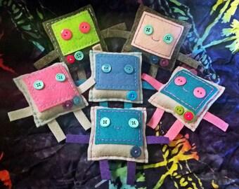 Tiny Plushie Robot Pocket Companion