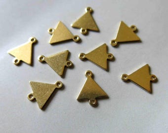 100pcs Raw Brass Triangle Connectors,Charms 12mm x 10mm - F516