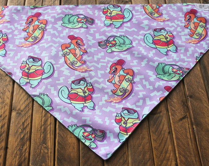 Extra Large Bandana with Velcro Closure - 90s Kid Pokémon