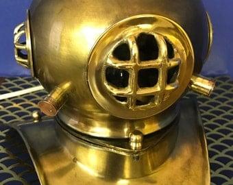 Scuba Diver's Helmet Light US Navy Mark V Nautical  Brass
