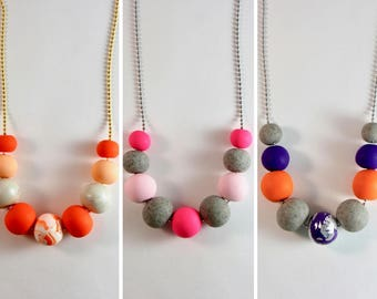 HARPER Clay Necklace - Brights