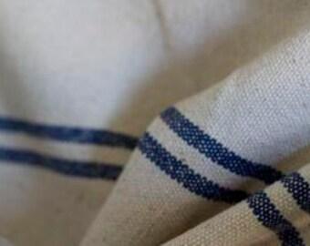 Blue Striped Grainsack Fabric