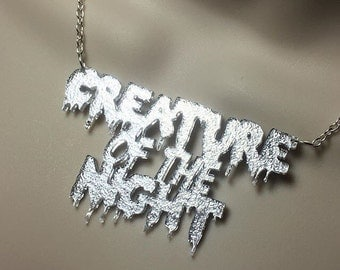 Rocky Horror Picture Show inspired necklace - Creature of the night
