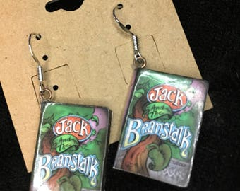 Jack and the Beanstalk Book Earrings