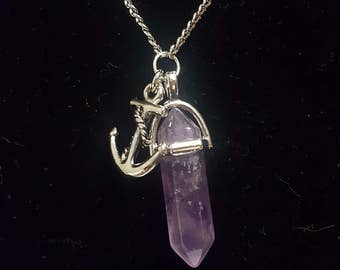 Anchor of my Soul-Amethyst Chakra Stone Necklace