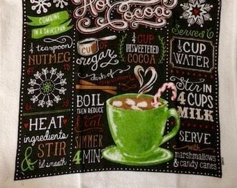 Hot Coco Crocheted Top Towel  (C20)