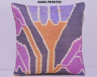 pink pillow 20x20 pillow designer cushion retro throw pillow art pillow cover handmade cushion boho chic fabric pillow kilim pillow 42-50