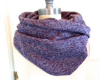 Warm and Cozy Bulky Sweater Scarf in Purple, Infinity Scarf, Bulky Scarf, Sweater Scarf, Winter Scarf