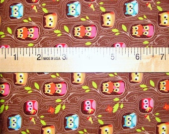 Owl Cotton Fabric by Riley Blake or Michael Miller! [Choose Your Cut Size]