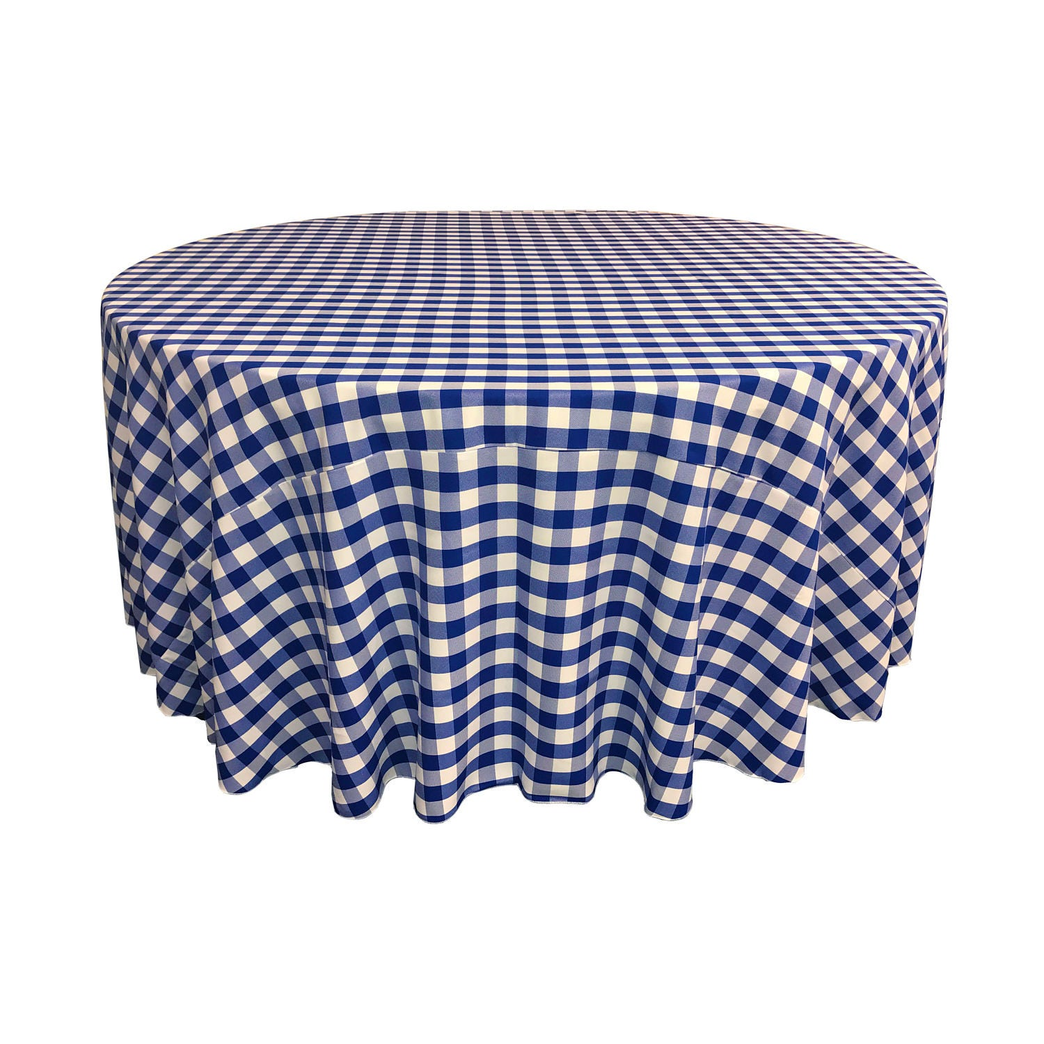 120 round polyester checkered table linens made in the for 120 round table seats how many