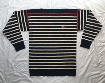 Vintage 1970's Paul & Shark Mens Striped Sweater