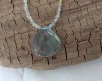 Pale Blue Quartz Necklace