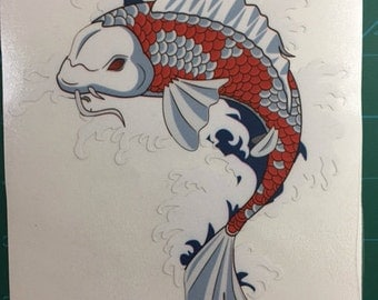Koi Decal/Sticker 6X6