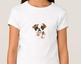 Girl's Custom Littlest Pet Shop English Bulldog Fitted Babydoll T-Shirt