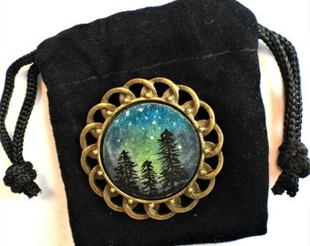 Magnetic Brooch Hand Painted