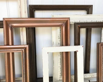 picture frame collage rustic picture frame set rustic gallery wall rustic picture frame wedding decor wedding table decor