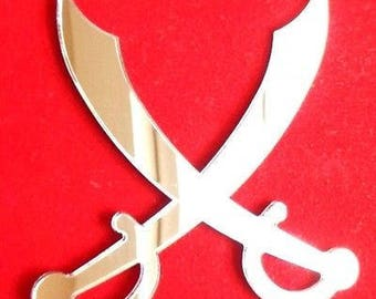 Pirate Crossed Swords Mirror - 5 Sizes Available.