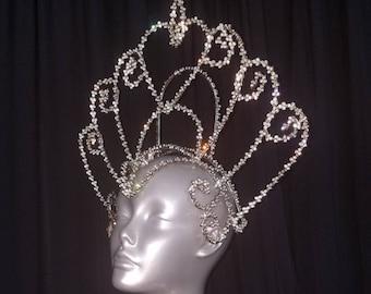 1 Wire Crowns with Rhinestone on Acrylic Trim