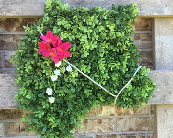 Summertime Boxwood Cow Wreath