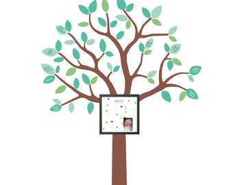 Family Tree Wall Decals With Magnetic Board