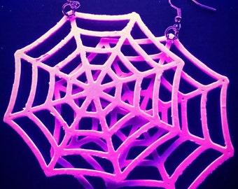 Spiderweb earrings