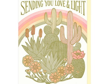 Sending You Love And Light Letterpress Card