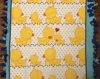 Rubber Ducky Fleece Tie Blanket