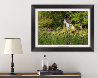 Wildflower Print - Cottage Decor - Purple Flower Art - Country Home Decor - Bedroom Wall Art - Landscape Photography - Kentucky Photography