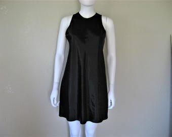 Black Satin 90s Dress