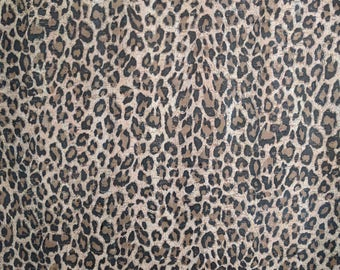 Natural Cork Fabric - Cheetah