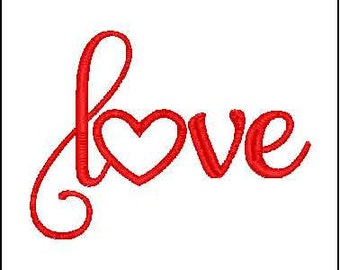 Love word embroidery design Heart applique embroidery design love embroidery valentines  embroidery design heart applique  embroidery design