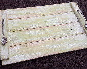 Rustic Pallet Wood Serving Tray