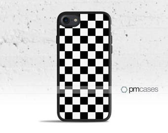 Checkerboard Case Cover for Apple iPod Touch & iPhone 4/4s/5/5s/5c/6/6s/7/Plus/SE