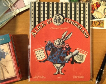 Vintage Galore Collection Alice in Wonderland lined note 185 × 240 cm
