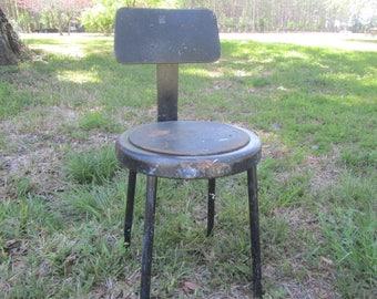 Vintage chair, Industrial Stool, Vintage Metal Stool,metal chair, retro,Kitchen Stool, Photo Prop, Rusty Metal stool, rusty, Factory Stool,