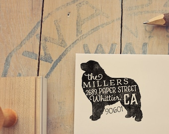 Great Pyrenees Address Stamp - Dog Return Address Stamp - Dog Lover Gift - Rubber Stamp - Personalized Pet Address Stamp