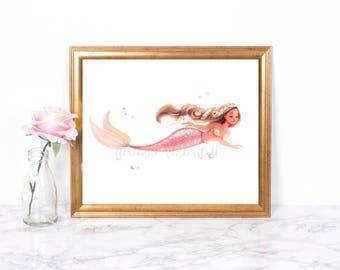 Floral Mermaid
