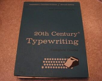 Vintage typing manual