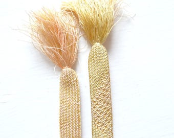 Vintage Japanese Silk Gold Obi Jime Kumihimo Cord K25