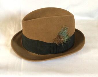 1950s Stetson 3X Beaver Fedora Hat 7 1/8