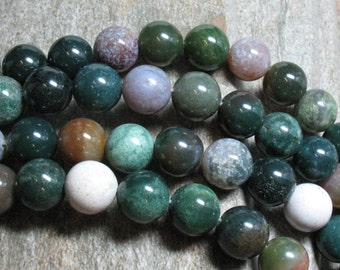 "Fancy Jasper Beads, 12 mm, 15.5"" strand - Item B0817"