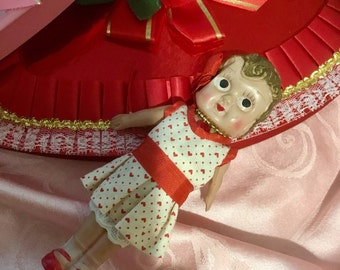 Darling, Antique, Celluloid, Carnival Doll