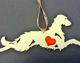 UniQ irish Wolfhound heart ornament !