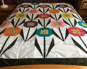 Machine Pieced Patchwork  Quilt top
