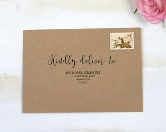 Calligraphy Envelope Printable, Wedding Envelope, PDF Instant Download, Envelope Template, Editable Envelope, 3.5x5, A7, RSVP, MM06-2