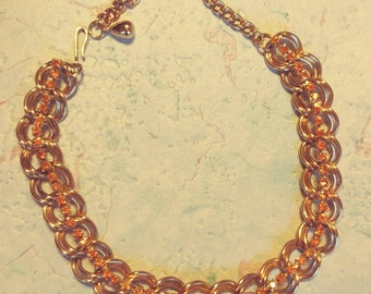 Gold tone Choker With Colored Rhinestones