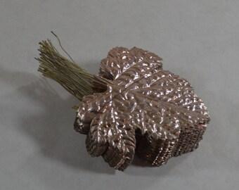 Stack of Vintage Embossed Aluminum Leaves made in Japan